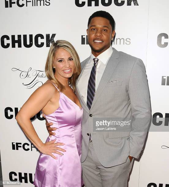 Actor Pooch Hall and wife Linda Hall attend the premiere of Chuck at ArcLight Cinemas on May 2 2017 in Hollywood California