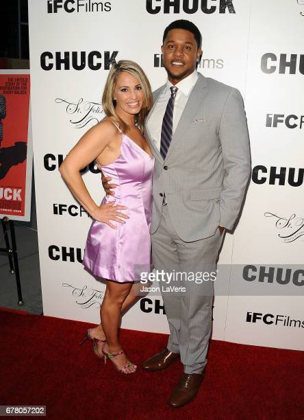 Actor Pooch Hall and wife Linda Hall attend the premiere of 'Chuck' at ArcLight Cinemas on May 2 2017 in Hollywood California