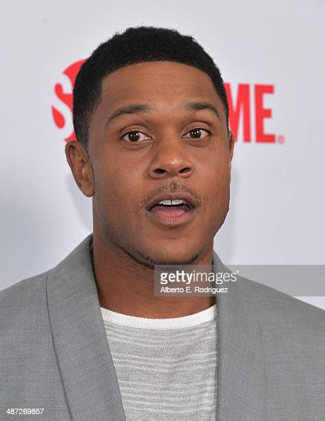 Actor Pooch Hall arrives to an exclusive conversation with the cast of Showtime's Ray Donovan at Leonard H Goldenson Theatre on April 28 2014 in...