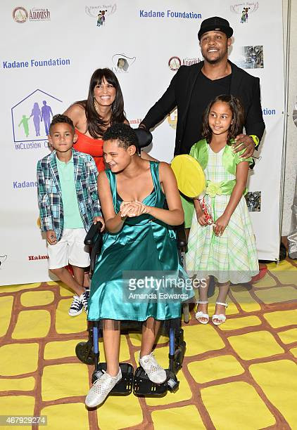 Actor Pooch Hall his wife Linda Hall and their children Djordan Hall Djanai Hall and Djaeda Hall arrive at the Djanai's Angels Special Needs Family...