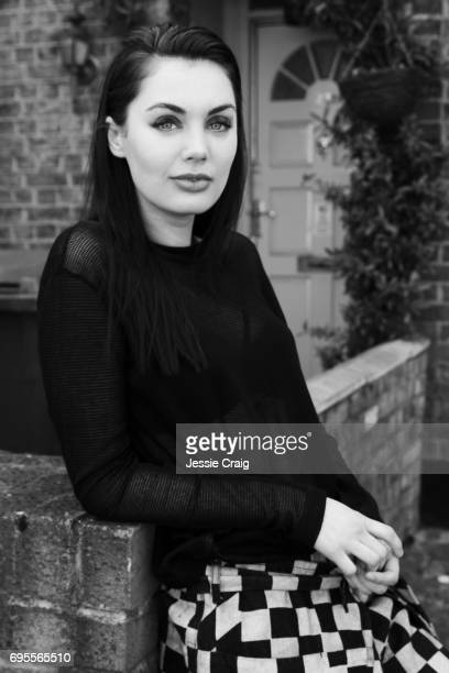 Actor Poppy CorbyTuech is photographed for The Picture Journal on April 7 2017 in London England