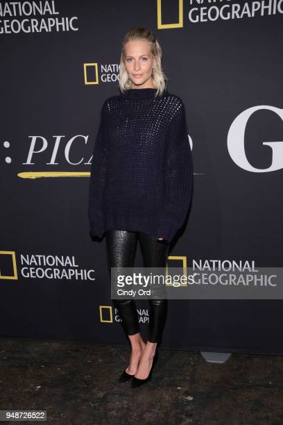 Actor Poppy Delevingne attends the 'Genius Picasso' interactive experience at the Genius Studio an interactive installation designed to inspire...
