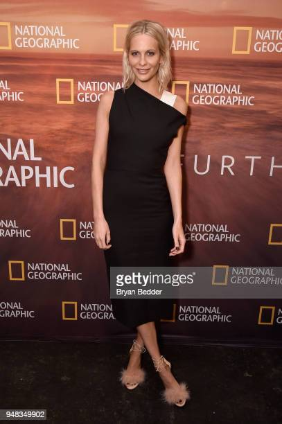 Actor Poppy Delevingne of 'Genius Picasso' attends National Geographic's FURTHER Front immersive experience where the network took over a SoHo...
