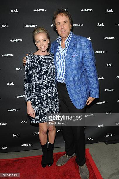 Actor Portia de Rossi and Kevin Nealon attend the 2014 AOL NewFronts at Duggal Greenhouse on April 29 2014 in New York New York