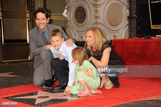 Actor pose with his wife Julie Yaeger, son Jack and daughter Darby at the ceremony that honored him with a Star on the Hollywood Walk of Fame.