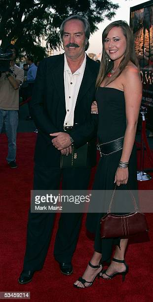 Actor Powers Boothe and daughter Parisse arrive at the premiere of HBO's new drama series Rome at the Wadsworth Theater on August 24 2005 in Los...