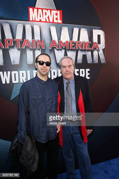 "Actor Powers Boothe and son Preston Allen attend The World Premiere of Marvel's ""Captain America: Civil War"" at Dolby Theatre on April 12, 2016 in..."