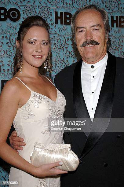 Actor Powers Boothe with daughter Parisse Boothe arrive at the HBO Emmy after party held atThe Plaza at the Pacific Design Center on September 18...