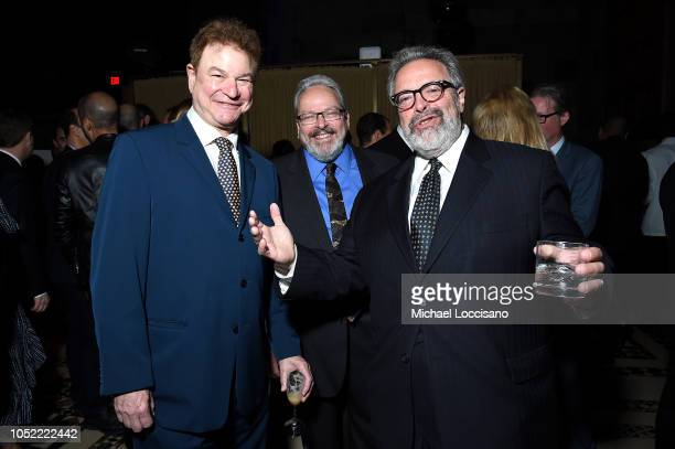 Actor presenter Robert Wuhl Honoree Drew Nieporent and brother Tracy Nieporent attend The TJ Martell Foundation 43rd New York Honors Gala at Cipriani...