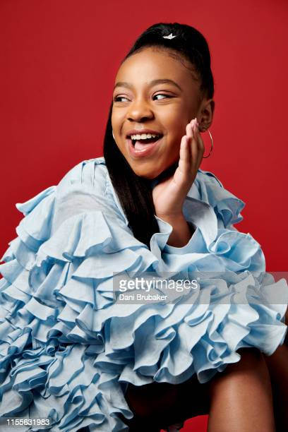 Actor Priah Ferguson is photographed at Netflix's Junket for 'Stranger Things' Season 3 at The London Hotel on June 27 2019 in West Hollywood...