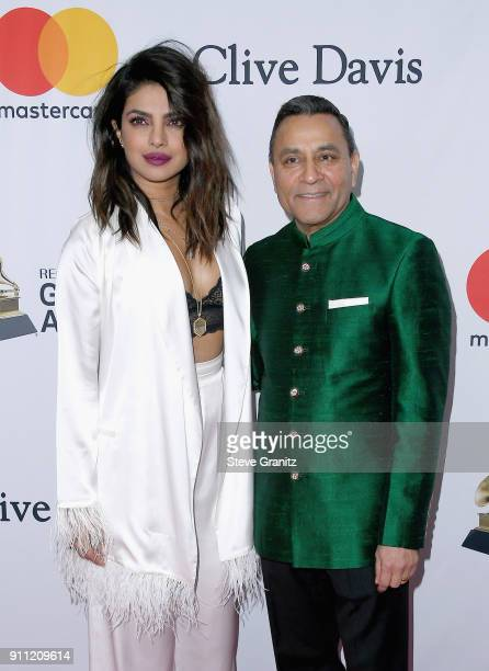 Actor Priyanka Chopra and guest attend the Clive Davis and Recording Academy PreGRAMMY Gala and GRAMMY Salute to Industry Icons Honoring JayZ on...