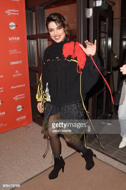 Actor Priyanka Chopra attends the A Kid Like Jake Premiere during the 2018 Sundance Film Festival at Eccles Center Theatre on January 23 2018 in Park...