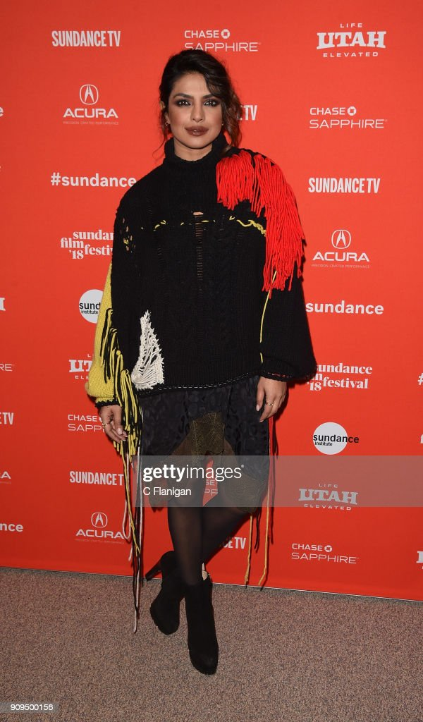 Actor Priyanka Chopra attends the 'A Kid Like Jake' Premiere during the 2018 Sundance Film Festival at Eccles Center Theatre on January 23, 2018 in Park City, Utah.