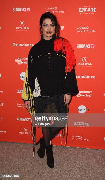 Actor Priyanka Chopra attends the 'A Kid Like Jake' Premiere during the 2018 Sundance Film Festival at Eccles Center Theatre on January 23 2018 in...