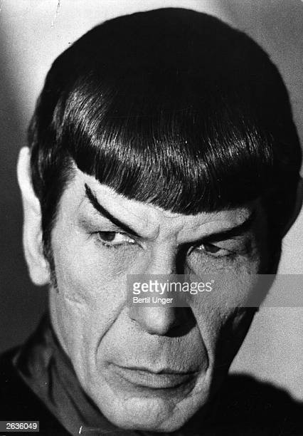 US actor producer and director Leonard Nimoy as Mr Spock from the TV series 'Star Trek'