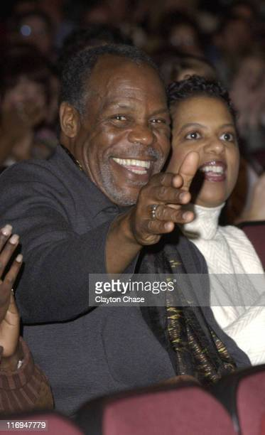 Actor / producer Danny Glover and wife during 2003 Sundance Film Festival 'Good Fences' Premiere at Eccles in Park City Utah United States