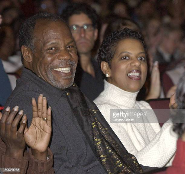 Actor / producer Danny Glover and wife during 2003 Sundance Film Festival Good Fences Premiere at Eccles in Park City Utah United States