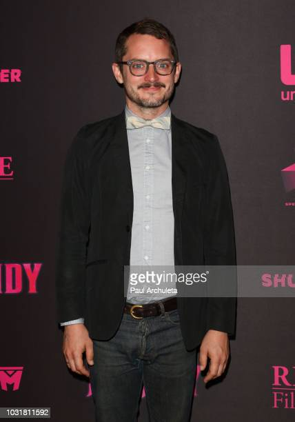 Actor / Producer Elijah Woodc attends the special screening and QA of Mandy At Beyond Fest at the Egyptian Theatre on September 11 2018 in Hollywood...