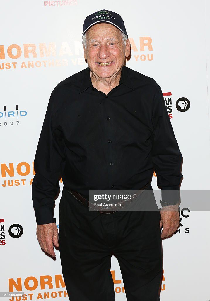 Actor / Producer Mel Brooks attends the premiere 'Norman Lear: Just Another Version Of You' at The WGA Theater on July 14, 2016 in Beverly Hills, California.