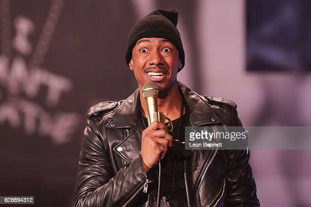 Actor/ Producer Nick Cannon performs on stage at The Ebony Repertory Theatre on December 9 2016 in Los Angeles California