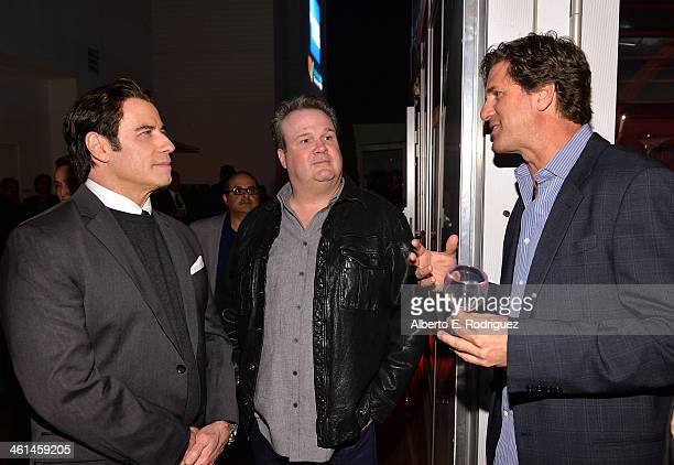 Actor/ Qantas Ambassador John Travolta actor Eric Stonestreet and Writer/Producer Steven Levitan attend the Qantas Spirit Of Australia Party on...