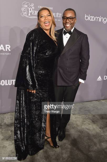 Actor Queen Latifah and Honoree Lee Daniels attend the 2018 amfAR Gala New York at Cipriani Wall Street on February 7 2018 in New York City