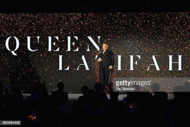 Actor Queen Latifah speaks at the 2018 AE Upfront on March 15 2018 in New York City