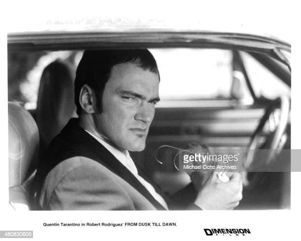 Actor Quentin Tarantino in a scene from the Dimension Film movie From Dusk Till Dawn circa 1996