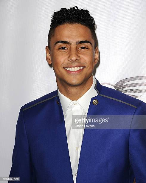 Actor Quincy Brown attends the premiere of Brotherly Love at SilverScreen Theater at the Pacific Design Center on April 13 2015 in West Hollywood...