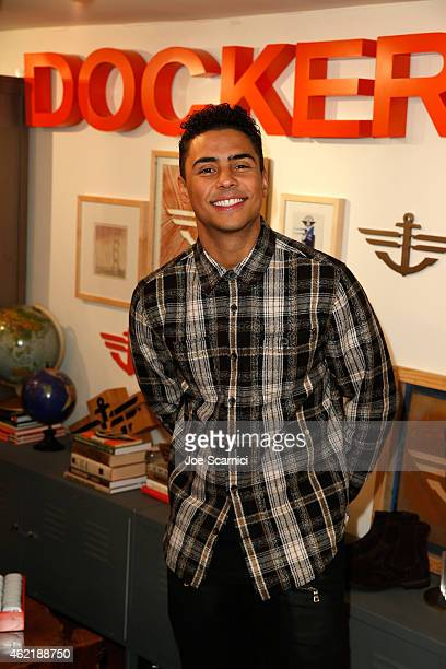 Actor Quincy Brown attends The Variety Studio At Sundance Presented By Dockers on January 25 2015 in Park City Utah