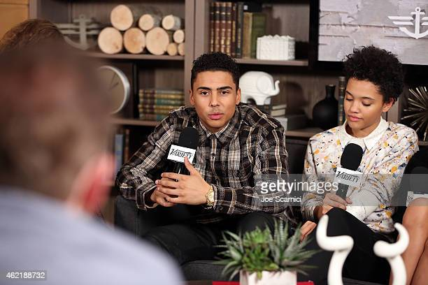 Actor Quincy Brown speaks at The Variety Studio At Sundance Presented By Dockers on January 25 2015 in Park City Utah