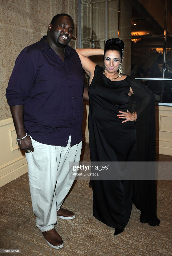Actor Quinton Aaron and actress Alice Amter attend 'Reel Haute' In Hollywood International Couture Fashion Show held at The Beverly Hilton Hotel on November 6, 2015 in Beverly Hills, California.