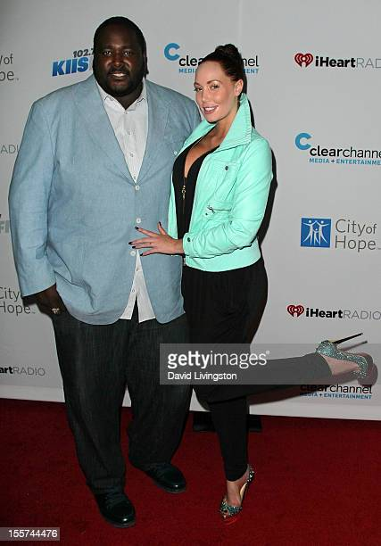 Actor Quinton Aaron and model Jenna Bentley attend City of Hope's music and entertainment industry John Ivey roast at the House of Blues Sunset Strip...