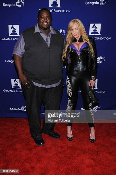 Actor Quinton Aaron and model Jenna Bentley attend the 15th Annual GRAMMY Foundation Music Preservation Project's Play It Forward A Celebration Of...