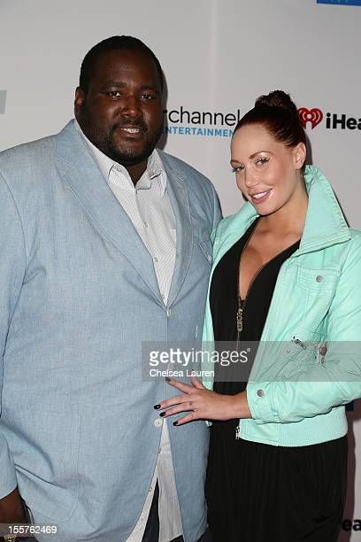 Actor Quinton Aaron and model Jenna Bentley attend the City of Hope's Fifth Annual MEI Comedy Roast Honoring Clear Channel's John Ivey at House of...