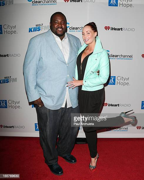 Actor Quinton Aaron and Model Jenna Bentley attend the City of Hope's Music and Entertainment Industry Group's 5th annual comedy roast at The House...
