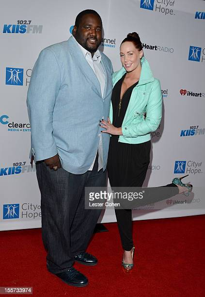 Actor Quinton Aaron and Playboy Playmate Jenna Bentley attend City of Hope's Fifth Annual MEI Comedy Roast Honoring Clear Channel's John Ivey on...