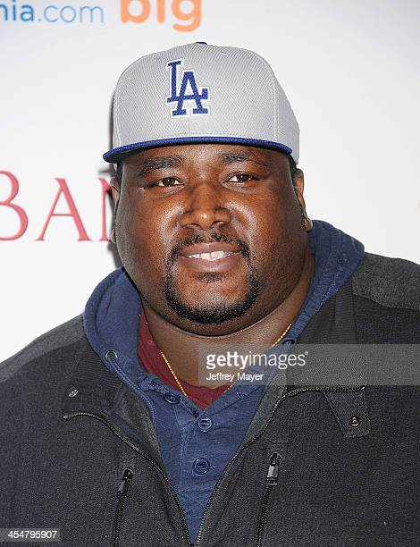 Actor Quinton Aaron arrives at the 'Saving Mr Banks' Los Angeles Premiere at Walt Disney Studios on December 9 2013 in Burbank California