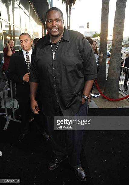 Actor Quinton Aaron arrives at the 'Takers' Los Angeles Premiere held at ArcLight Cinemas Cinerama Dome on August 4 2010 in Hollywood California