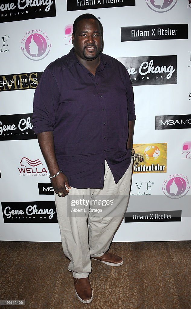 Actor Quinton Aaron attends 'Reel Haute' In Hollywood International Couture Fashion Show held at The Beverly Hilton Hotel on November 6, 2015 in Beverly Hills, California.