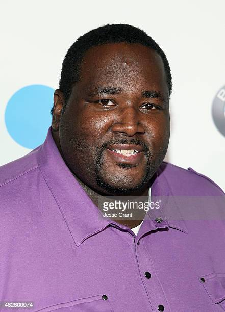 Actor Quinton Aaron attends The Giving Back Fund's Big Game Big Give at the home of Erika and Matt Williams on January 31 2015 in Phoenix Arizona
