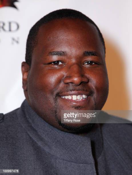 Actor Quinton Aaron attends the Sugar Ray Leonard Foundation's Big Fighters Big Cause charity event at the Santa Monica Pier on May 25 2010 in Santa...