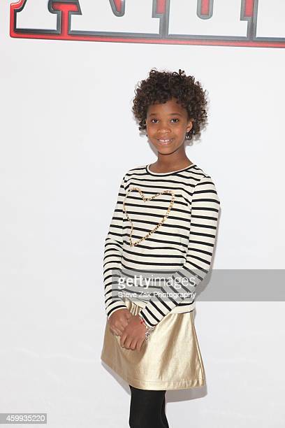 Actor Quvenzhane Wallis attends 'Annie' Cast Photo Call at Crosby Street Hotel on December 4 2014 in New York City