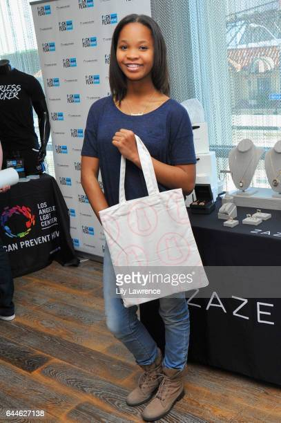 Actor Quvenzhane Wallis attends Kari Feinstein's Pre-Oscar Style Lounge at the Andaz Hotel on February 23, 2017 in Los Angeles, California.