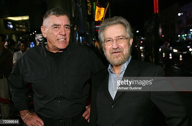 Actor R Lee Ermey and producer Tobe Hooper arrive at the premiere of New Line's 'Texas Chainsaw Massacre The Beginning' at Grauman's Chinese Theatre...