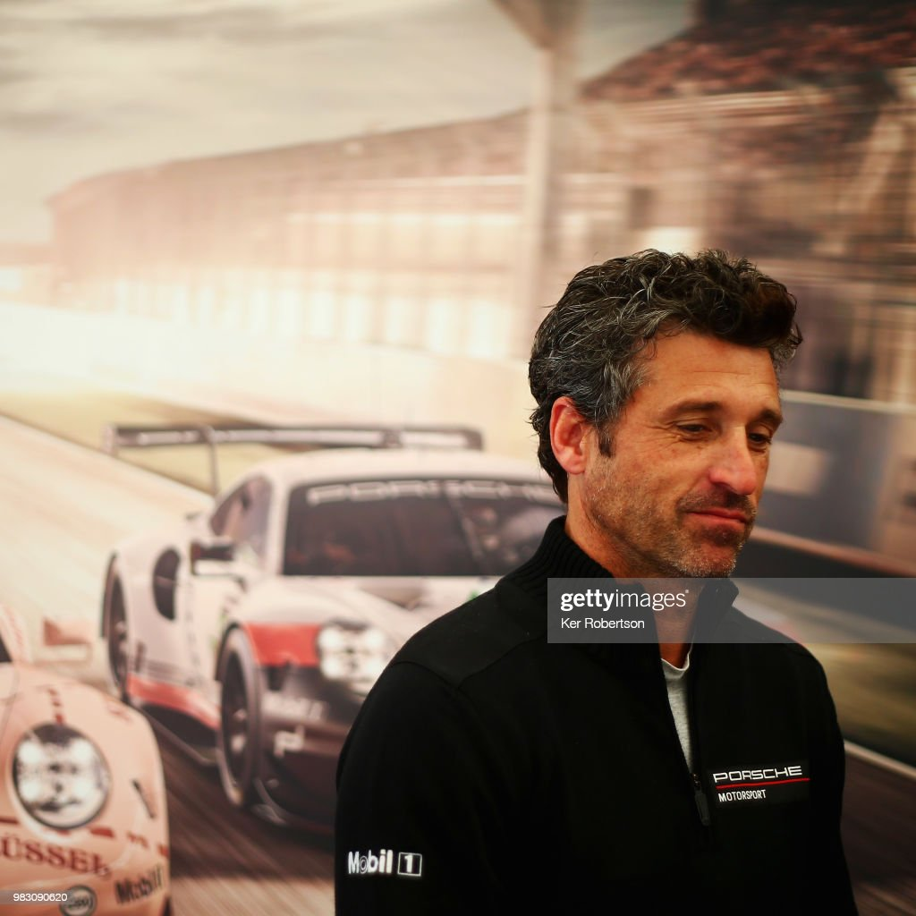 Actor Race Driver And Team Owner Patrick Dempsey Attends A Porsche