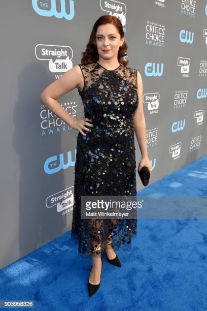 Actor Rachel Bloom attends The 23rd Annual Critics' Choice Awards at Barker Hangar on January 11 2018 in Santa Monica California