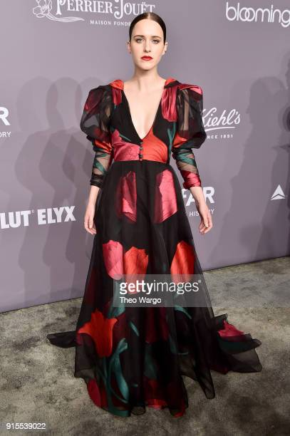 Actor Rachel Brosnahan attends the 2018 amfAR Gala New York at Cipriani Wall Street on February 7 2018 in New York City