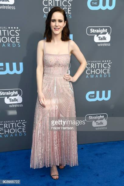 Actor Rachel Brosnahan attends The 23rd Annual Critics' Choice Awards at Barker Hangar on January 11 2018 in Santa Monica California