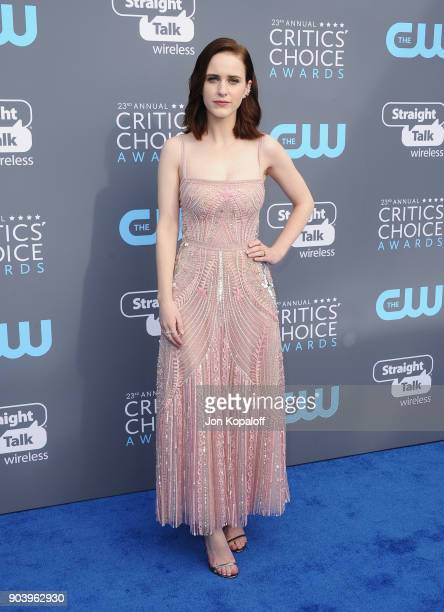 Actor Rachel Brosnahan attends The 23rd Annual Critics' Choice Awards at Barker Hangar on January 11 2018 in Santa Monica California